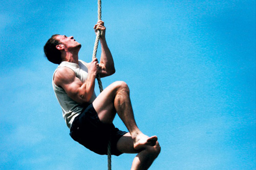 GYMNASTICS EXERCISES FOR BICEPS - ROPE CLIMBING